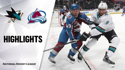 Sharks @ Avalanche 4/30/21   NHL Highlights