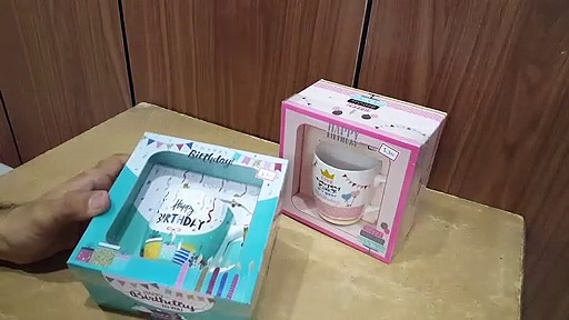 Unboxing and Review of cute coffee birthday gifting mugs