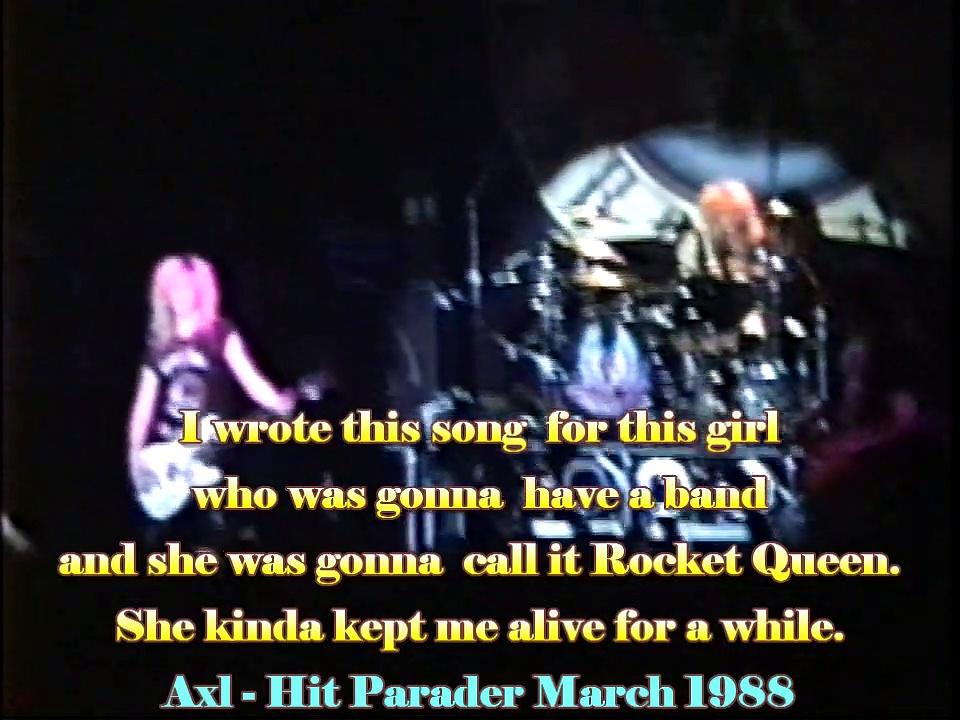 Rocket Queen Felt  Forum 1988 w/lyrics Drum and Bass