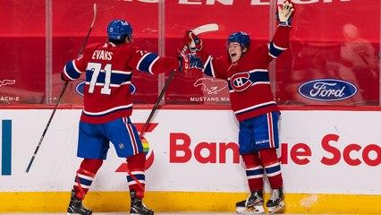 Caufield gets first NHL goal with OT winner