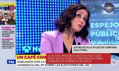"""Isabel Díaz Ayuso destaca, en sus entrevistas por diferentes medios de comunicación, que """"le da pena"""" que se acabe la campaña electoral"""