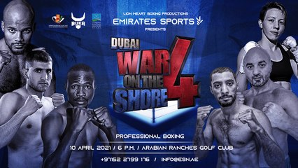 GO SPORTS: International Boxing  - Dubai War on the Shore 4 Featuring Layla McCarter (Full Event)
