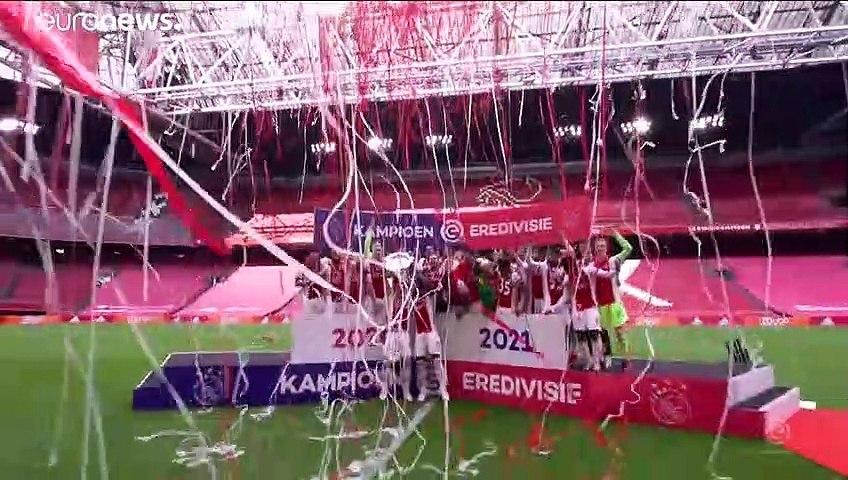 أياكس ينتزع لقب الدوري الهولندي لكرة القدم من إمين