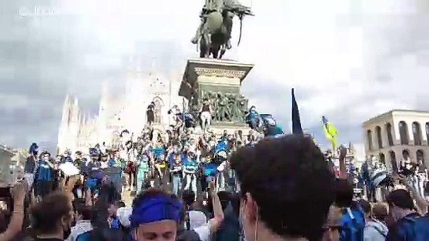 إنتر يضع حداً لهيمنة يوفنتوس ويضمن لقب الدوري الإيطالي قبل أربع مراحل