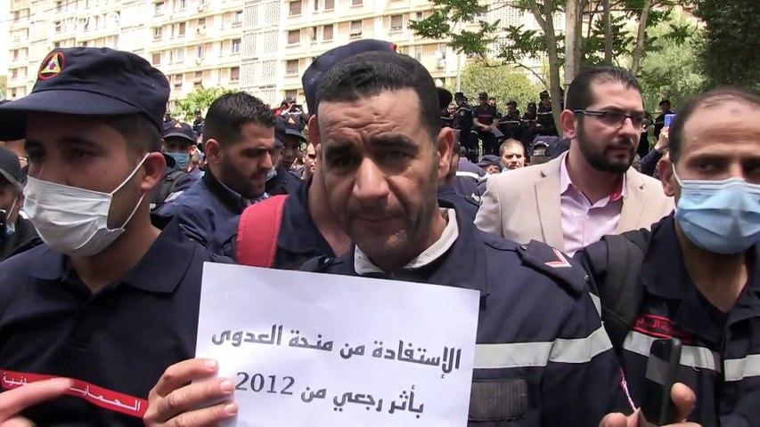 شاهد: أعوان الحماية المدنية في الجزائر ينضمون إلى حركات الاحتجاج على سوء الأوضاع الاجتماعية