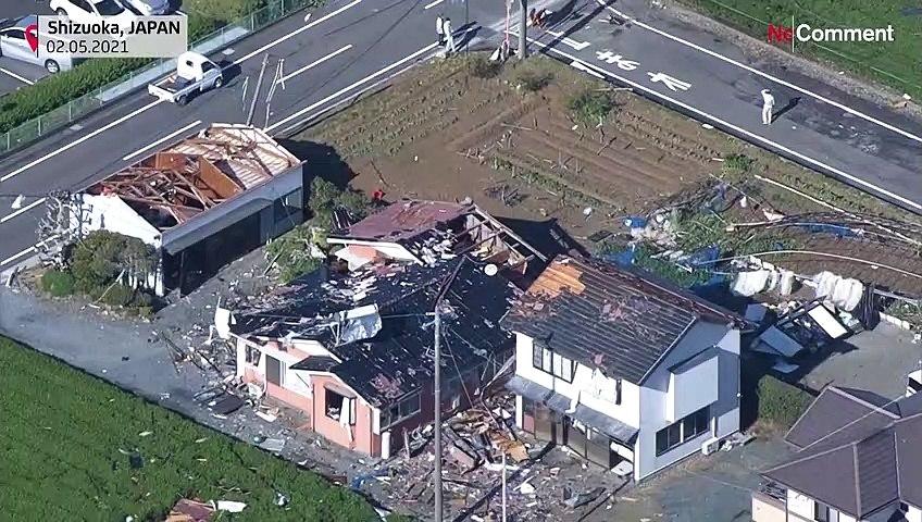 شاهد: عاصفة هوجاء تهز وسط اليابان وتسبب خسائر كبيرة