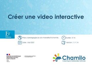 Chamilo - Créer une vidéo interactive