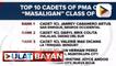 Kadete mula sa Negros Occidental, nanguna sa PMA Masaligan class of 2021; Graduation rites ng PMA 'Masaligan' class of 2021, isasagawa sa May 10