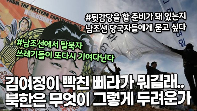 김여정이 빡친 삐라가 뭐길래.. 북한은 무엇이 그렇게 두려운가
