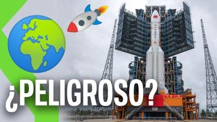 Un cohete chino de 50 metros de altura está a punto de reentrar en la  atmósfera, caerá de forma descontrolada