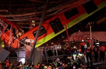 Desplome de un metro en Ciudad de México