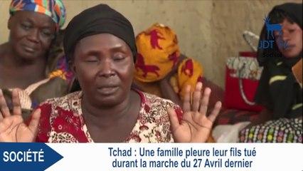 TCHAD : une famille pleure son fils tué lors des manifestations du 27 avril