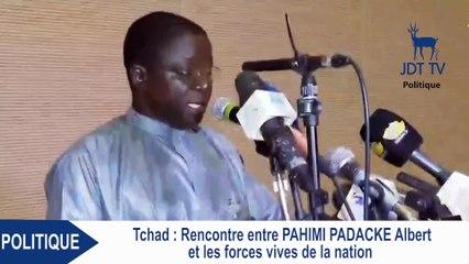 ALBERT PAHIMI PADACKE souhaite des bases solides pour faire du Tchad une nation démocratique