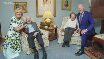 Carter Center releases photos of President Biden's visit to Jimmy and Rosalynn's home