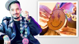 J Balvin Shows Off More of His Insane Jewelry Collection