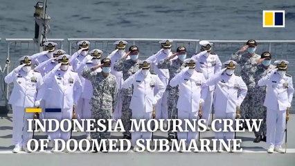 Final send-off for fallen sailors aboard sunken Indonesian submarine