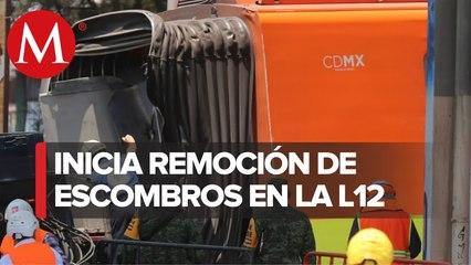 Inician labores para el retiro de escombros del accidente de la L-12 del metro