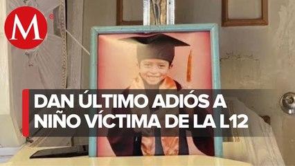 Despiden a Brandon Giovanny, niño de 12 años que murió tras accidente en Metro de CdMx