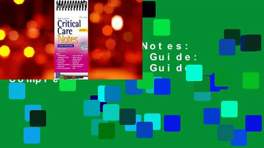 Critical Care Notes: Clinical Pocket Guide: Clinical Pocket Guide Complete