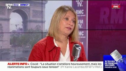 """Pr Karine Lacombe: """"Avec le vaccin Moderna, au bout de 21 jours [après la première injection] on acquière quasiment 90% de protection"""""""