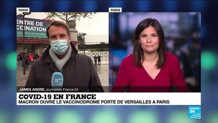 Covid-19 en France : ouverture d'un grand centre de vaccination à la Porte de Versailles à Paris