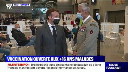 """Emmanuel Macron:  """"La campagne avance, plus de 16,5 millions de Français ont été vaccinés"""""""