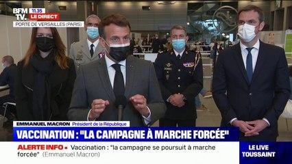 """Emmanuel Macron: """"À partir de lundi, les vaccinations commenceront pour les plus de 50 ans"""