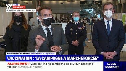 """Vaccination: Emmanuel Macron annonce que les rendez-vous non pris seront """"ouverts à tous"""" à partir du 12 mai"""