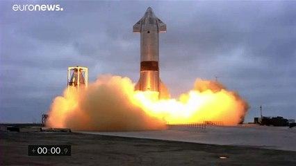 """فيديو: صاروخ """"ستارشيب"""" لـ""""سبيس إكس"""" ينجح في الهبوط بعد عدّة محاولات فاشلة"""