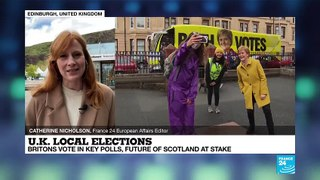 UK votes as independence debate heats up in Scotland