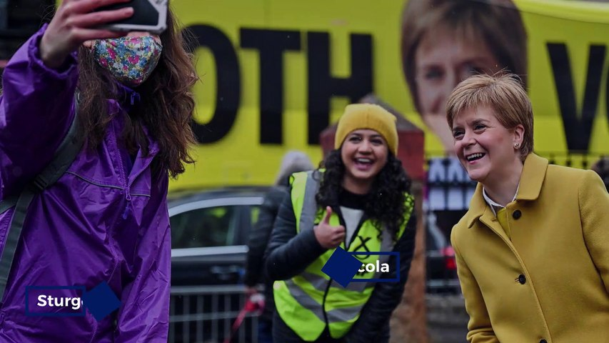 Scots head to the polls through rain,shine and snow