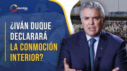 Iván Duque no descarta solicitar el Estado de Conmoción en el interior de Colombia