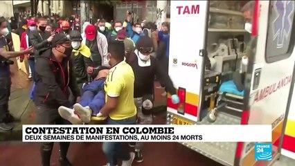 Contestation en Colombie : deux semaines de manifestations, au moins 24 morts
