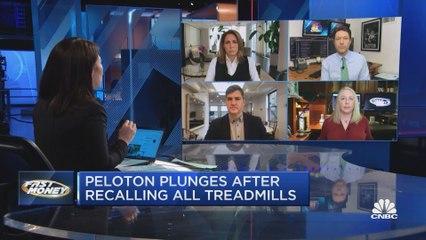 Peloton drops after announcing a recall of all treadmills
