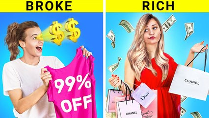 Rich Girl vs Broke Girl |  Black Friday`s Awkward Situations! by troom troom