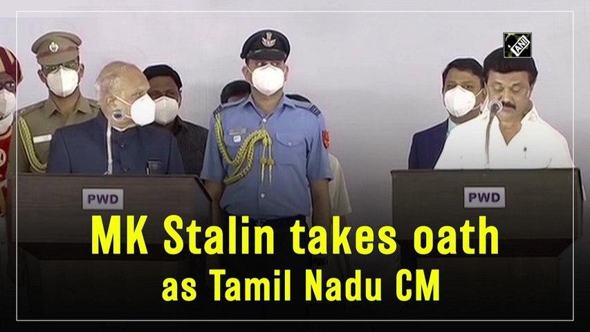 MK Stalin takes oath as Tamil Nadu CM