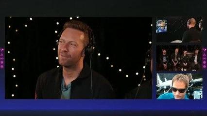 Coldplay presenta su nuevo tema en el espacio