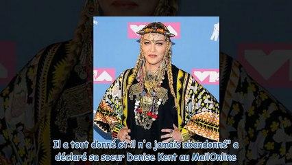 Madonna en deuil - la chanteuse pleure la mort d'un être cher à son coeur