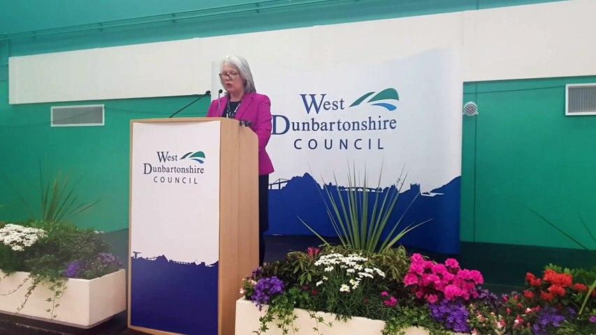 Scottish Labour's Jackie Baillie  retains her Dumbarton seat