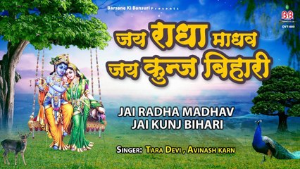 जय राधा माधव जय कुञ्ज बिहारी - Banke Bihari Bhajan - Avinash Karn & Tara Devi
