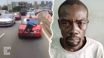 UN POLICIER TRAINER SUR LE CAPOT D'UN TAXI   VOILÀ CE QUI S'EST RÉELLEMENT PASSÉ !