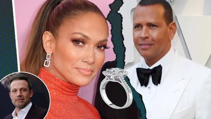 'No... Ben Affleck is mesmerizing you!' Alex Rodriguez holds on when Lopez returns engagement ring