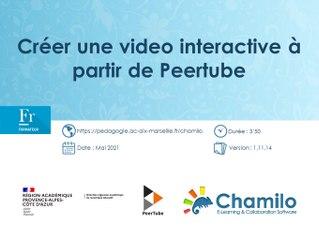 Chamilo - Créer une vidéo interactive à partir de Peertube