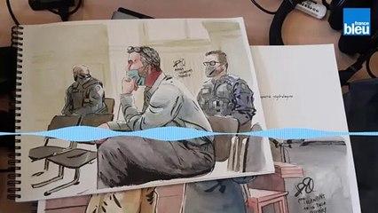 Le procès de Nordahl Lelandais vu par un dessinateur de presse, Valentin Pasquier