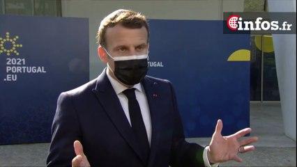 Réunion des chefs d'État et de Gouvernement de l'Union européenne à Porto | Emmanuel Macron