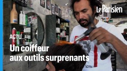 Au chalumeau ou au hachoir, ce coiffeur pakistanais propose des coupes étonnantes