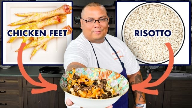 Pro Chef Uses Chicken Feet to Make $100 Risotto