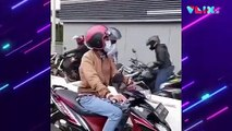 Viral! Pesepeda VS Puluhan Pemotor di Jalur Sepeda