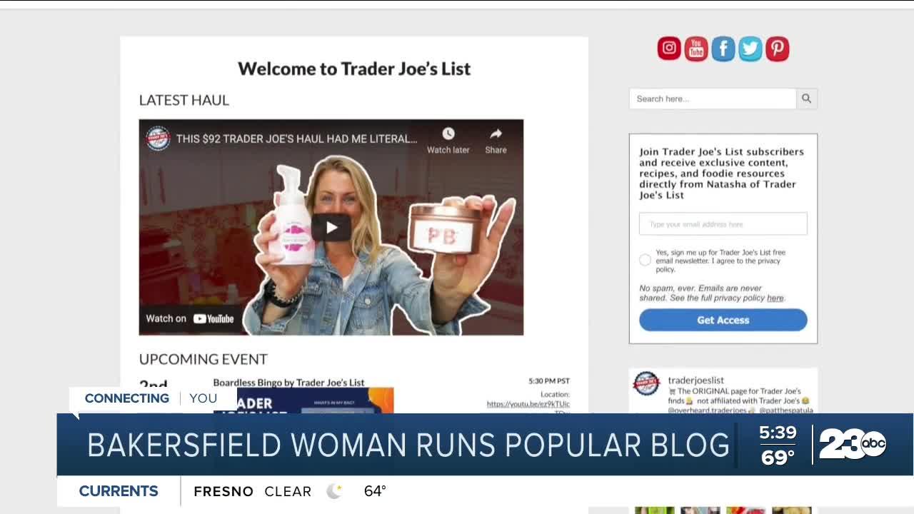 Bakersfield woman runs popular Trader Joe's blog