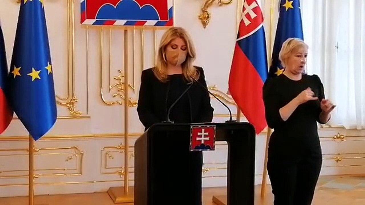 ZÁZNAM: TK prezidentky SR Zuzany Čaputovej